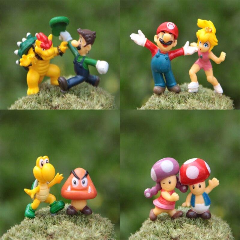 Super Mario 8 Pcsensemble Pandent Mignon Beau Dessin Animé