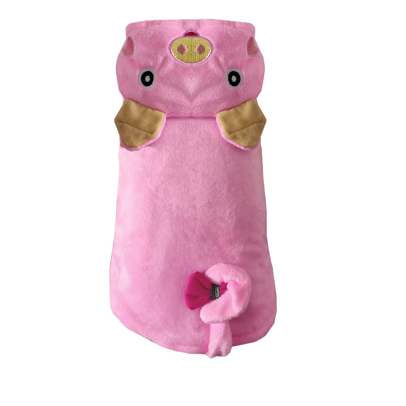 Two Legs Pink Pig Design Pet Dogs Cos Coat Dogs clothes s to xl Free Shiping By CPAM Dogs Clothing