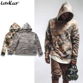 2017 New LetsKeep Kanye West Camouflage hoodies men pullover hooded Military Style sweatshirts mens tracksuit camo hoodie, MA222