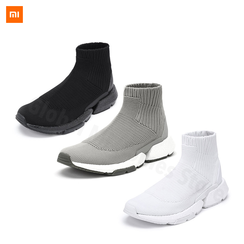 Xiaomi Youpin Uleemark men's popcorn sock slippers Flying Weave Upper Breathable shoes  Fashion Design Shoes(China)