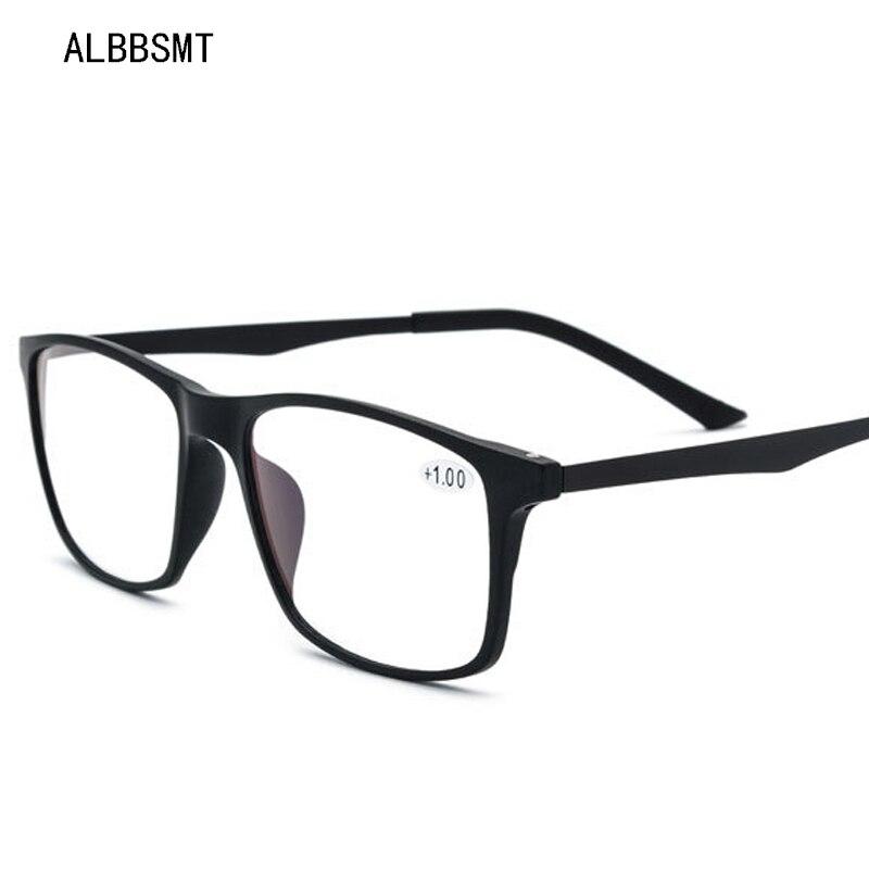 TR90 Anti Blue Light Rays Glasses Men High Quality Reading Glasses Eyewear Computer Presbyopic Gaming Eyeglasses For Women +1.0