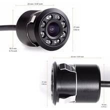 Новинка, водонепроницаемая HD CCD 8LED камера ночного видения, Автомобильная камера заднего вида, 170, широкоугольная Универсальная автомобильная резервная камера для парковки, 318L