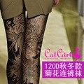 2017 Promoção Poliéster Meias Mulheres Collants Mídias Pantis Mulher Nova Meia-calça Personalidade Impressão Base de Veludo