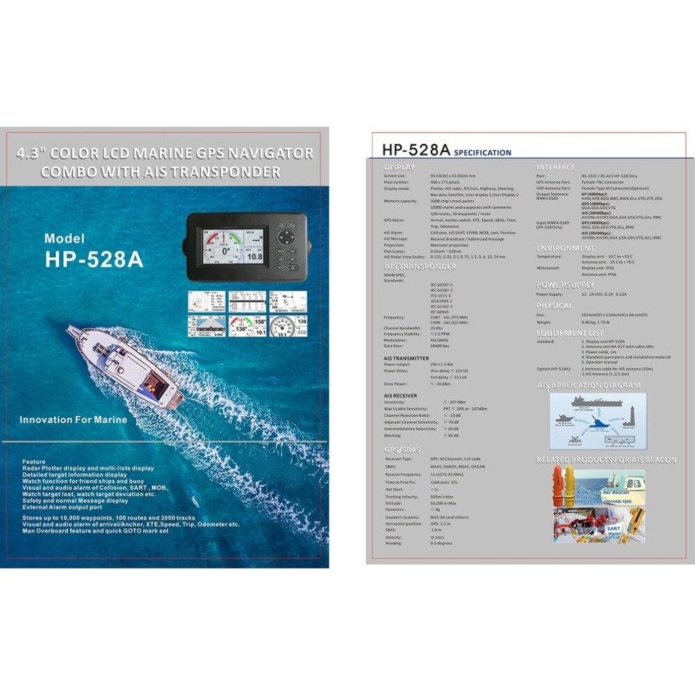 Waterproof Marine Walkie Talkie Dual Band Radio HF Marine Transceiver Built-In GPS Receiver 50 Channels 6