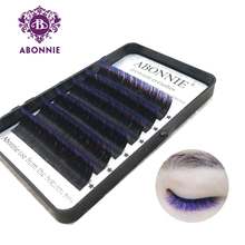 Ombre color magic lashes 1 case 6rows  new arrived bloom eyelash easy fan self-making faux mink