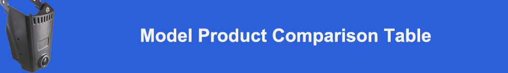 Model product comparison table