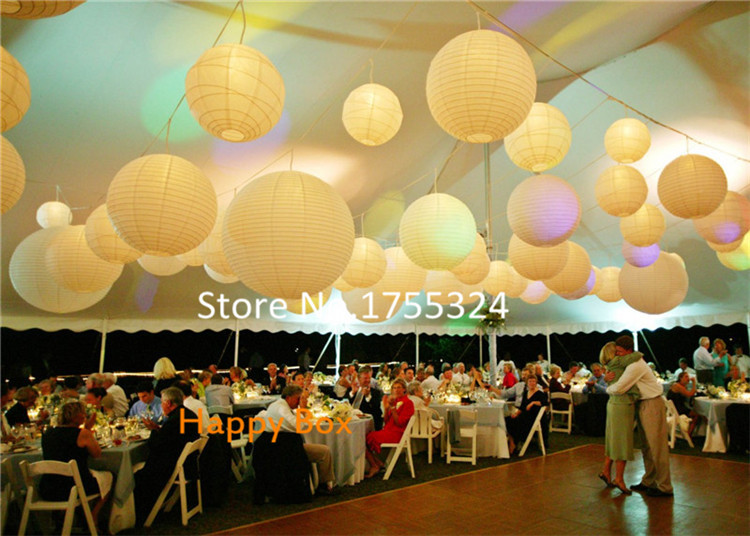 Factory S 24inch 60cm 120pcs Lot Giant Round Paper Lanterns Outdoor Hanging For Wedding Party Home Decor Free Shipping On Aliexpress Alibaba