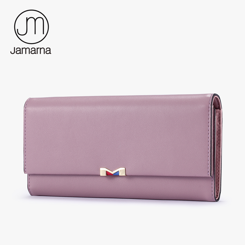 Jamarna Genuine Leather Women Wallet 2017 Ladies Long Clutch Coin Purse Card Holder Female Phone Wallet Free Shipping New meo cat