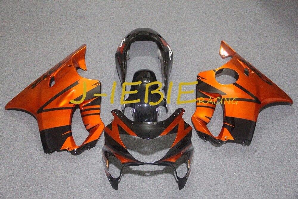 Orange black Injection Fairing Body Work Frame Kit for HONDA CBR600 CBR 600 F4 1999 2000