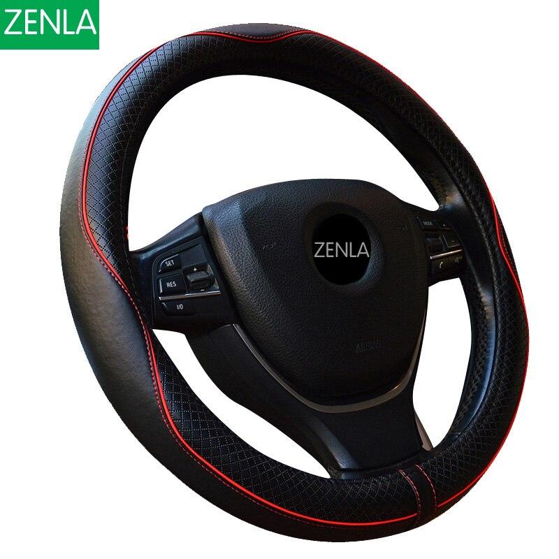 Leather Car Styling Steering Wheel Cover For Mazda 3 2 Mazda 6 Axela CX 5 CX5 CX 7 CX7 CX 9 RX8 2014 2015 2016 Auto Accessories