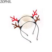 2pcs Christmas Reindeer Headband Merry Christmas Decorations Deals Hair Accessories Deer Horns Antlers Haarband Kerst merry christmas reindeer olive branch print round beach throw