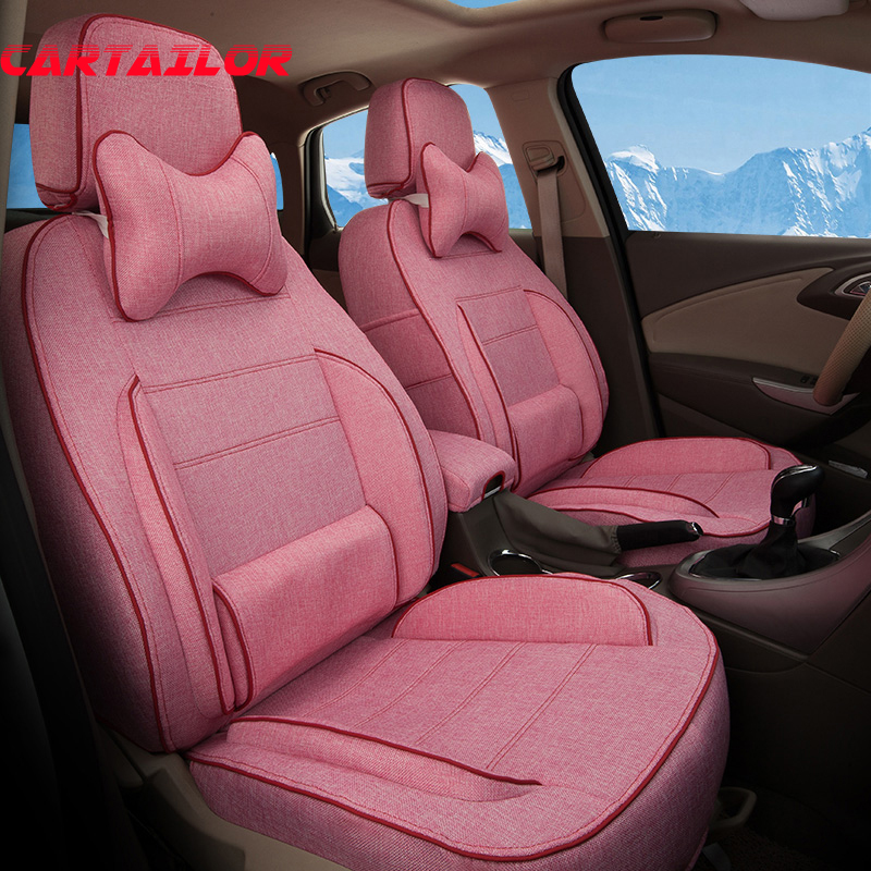 CARTAILOR Car Styling Accessories Fit For Infiniti QX70 Seat Covers Set Flax Cover Seats Protector Auto Cushion Support