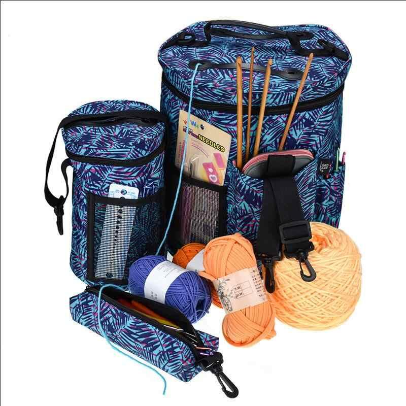 Lane e Filati Caso di Immagazzinaggio Del Sacchetto Lane e Filati Tamburo Delle Signore Crochet È Adatto Per Tutte Le Crochet Accessori Per il Cucito FAI DA TE Strumento Per Cucire Sacchetto di Immagazzinaggio