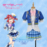Anime Love live!Sunshine!Kurosawa Ruby Aqours SJ Uniform Dress Cosplay Costume Full set free shipping
