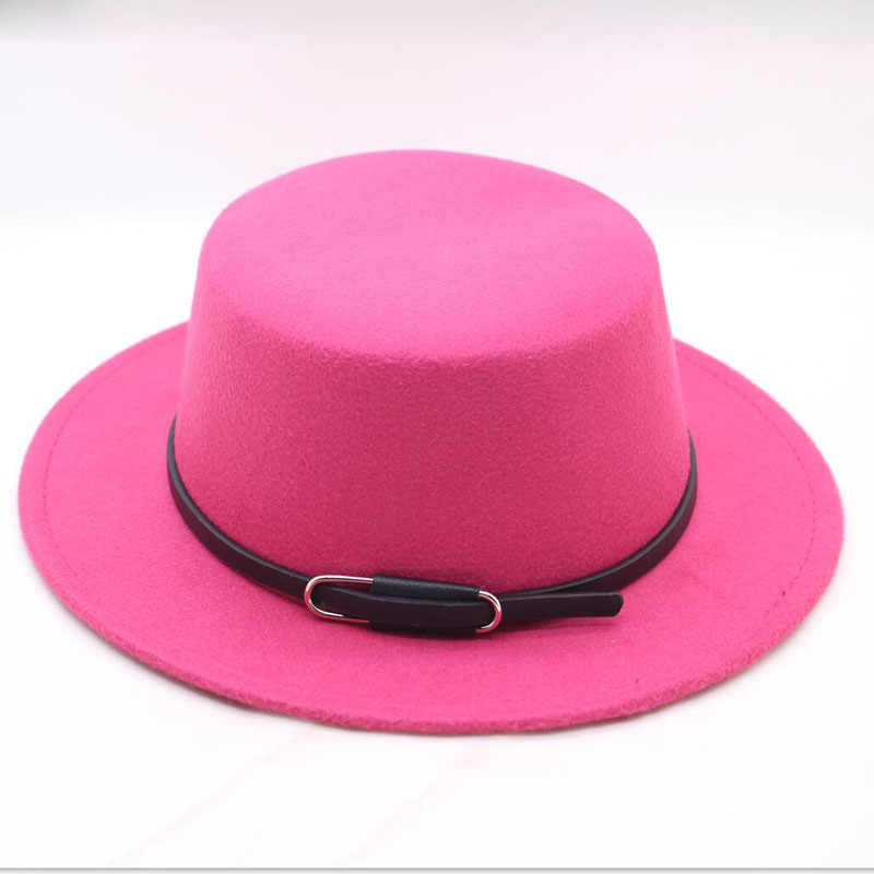 ffb83b537d3 BINGYUANHAOXUAN Fashion Men Classic Felt Pork Pie Porkpie Fedora Hat Chapea  Cap Upturn Masculino Black Ribbon