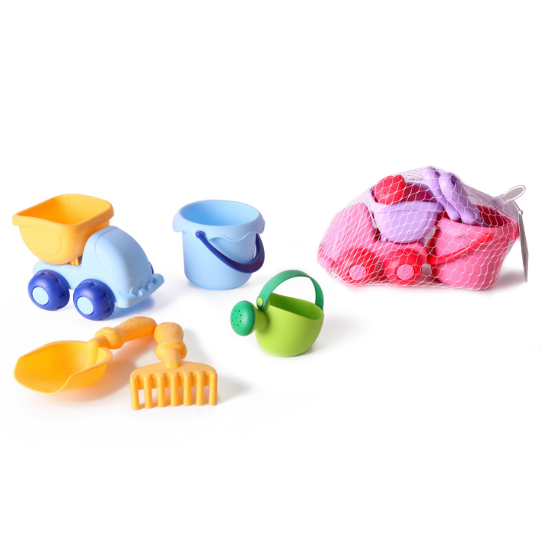 Soft Rubber Beach Sand Toys Beach Toys Set Outdoors Fun For Kids - Colorful