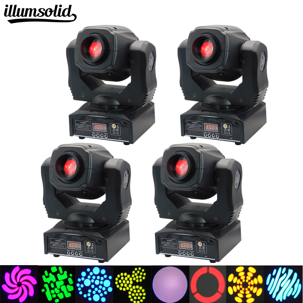 4 pieces/lot LED Moving Head Light Spot 7 Color Gobos Light 60W DMX with Show KTV Disco DJ Party for Stage Lighting free shipping 8pcs lot 90w lyre led spot gobos moving head light stage equipment party lumiere lights dj party show dmx lighting