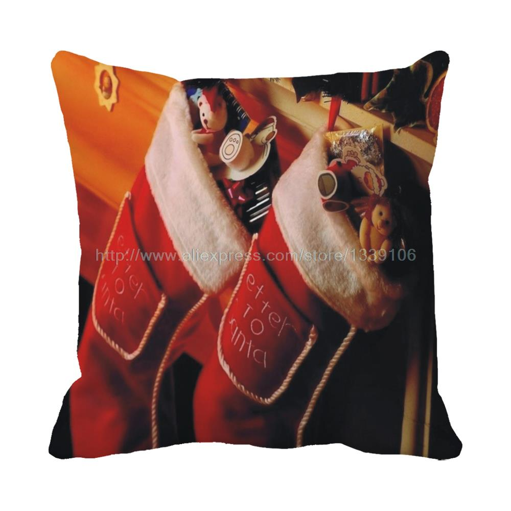 Joyous red stockings full of toys print christmas luxury chair bed cushions home decor almofada sofa throw decorative pillows