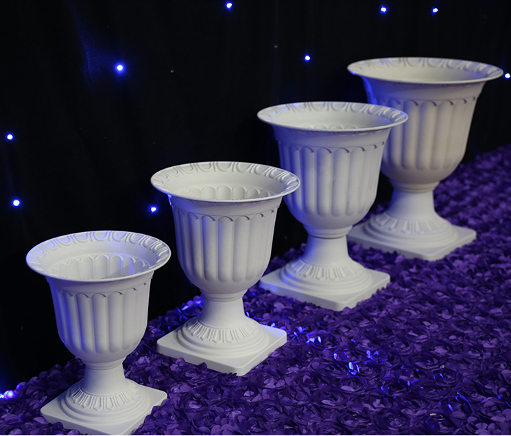 Free Shipping 8pcs Lot Wedding Plastic Flower Pot Road Leads Stand Banquet Decoration