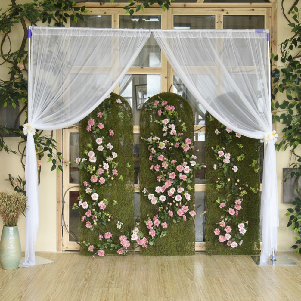 2pcs Outdoor Window Screen Tulle Backdrop Curtains For Baby Shower Wedding Birthday Party Photo Photography Background 1.5m*2.5m