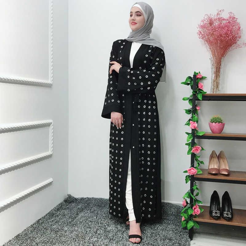 Kaftan Abaya dubaj muzułmańskie sukienka na ramiączkach turcji Abayas dla kobiet Kaftan marokański katar Oman odzież islamska Ramadan suknie Elbise