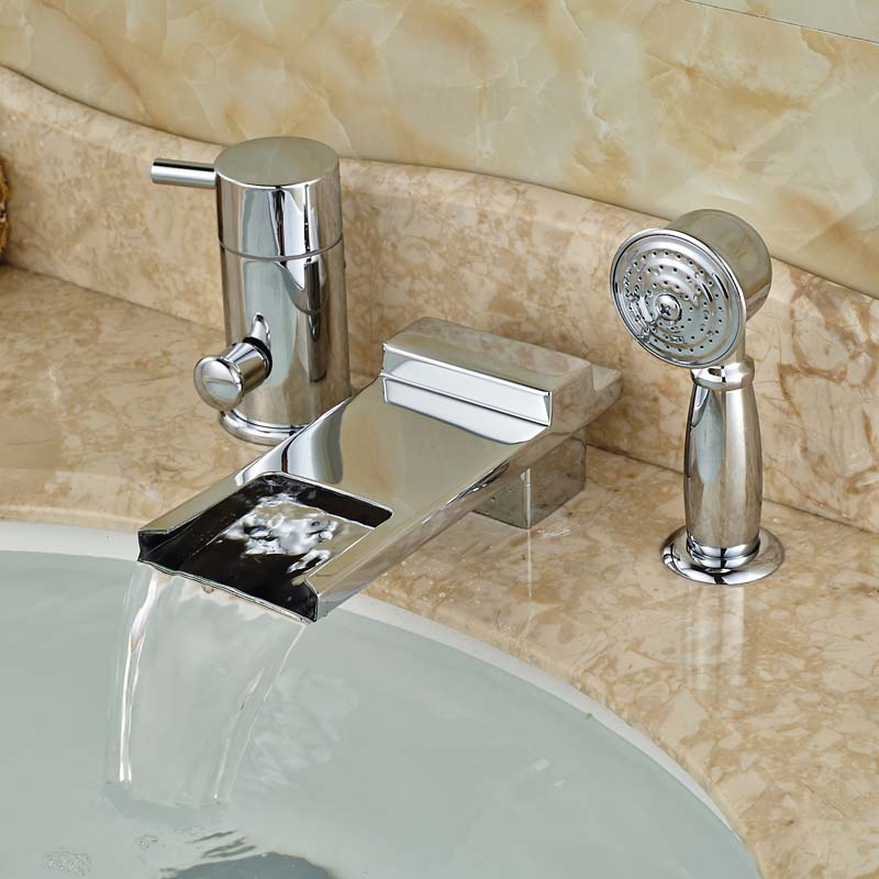 Best Selling Product Bathroom Tub Mixer Taps 3 PCS with Showerhand Chrome New Arrival best new product on sale 30