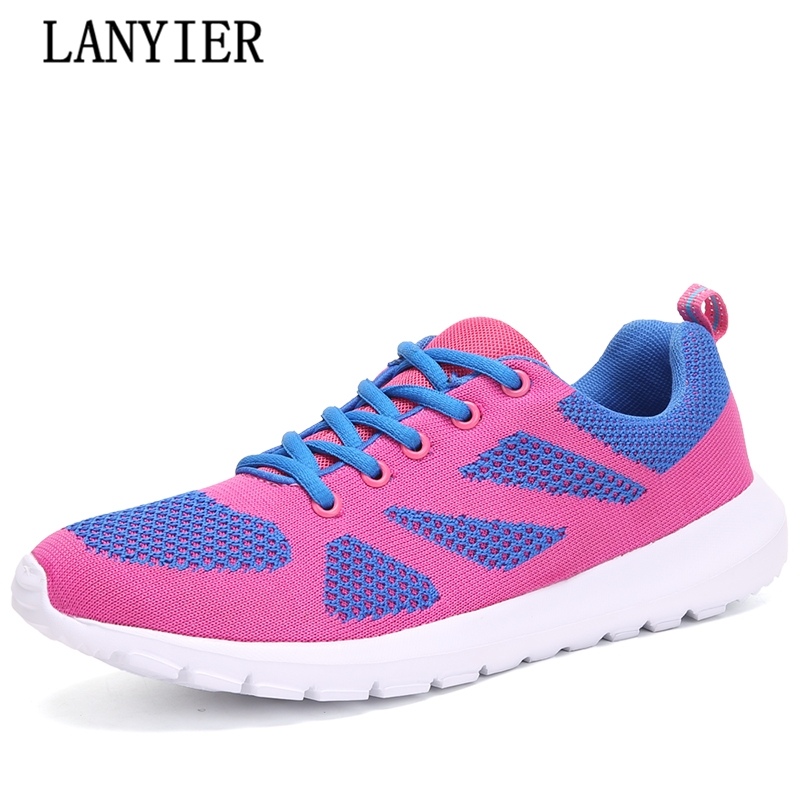 2017 fashion breathable mesh shoes Female soft light women shoes for adult comfortable flats lazy shoes