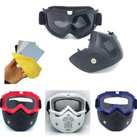 Transparent Glasses And Tactical Mask With Cleaning Cloth For Nerf Toy Gun Game Nerf Rival