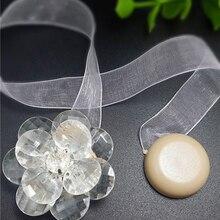 Магнитная пряжка для штор в форме цветка, магнитные подхваты для штор, s оконные зажимы для штор, держатель, ремень, домашний декор, аксессуары Rideau