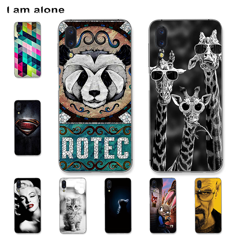 I am alone Phone Cases For UMIDIGI One Max 6.3 inch Soft TPU Mobile Fashion Color For UMIDIGI One Max Bags Free Shipping