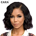 CARA Full Lace Human Hair Wigs Peruvian Body Wave Human Hair Bob Wigs Lace Front Human Hair Wigs For Black Women Short Bob Wig