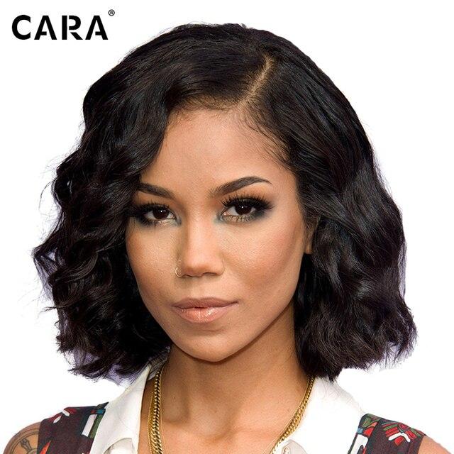 CARA Full Lace Human Hair Wigs Peruvian Body Wave Human Hair Bob Wigs Lace Front Human Hair Wigs For Black Women Short Bob Wig