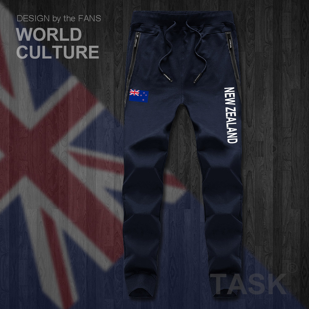 New Zealand Zealander NZ NZL Mens Pants Joggers Jumpsuit Sweatpants Track Sweat Fitness Fleece Tactical Casual Nation Country