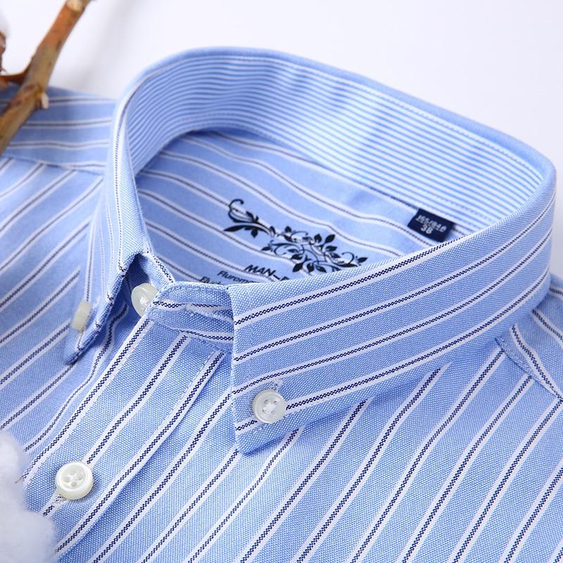 Kemeja kotak-kotak lengan panjang / bergaris-garis Oxford Dress - Pakaian Pria - Foto 3
