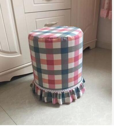 New cotton fabric round stool sets bar chairs round plate cover chair cover round chair cover