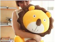 big plush cartoon lion toy lovely sitting sun flower lion doll gift about 60cm