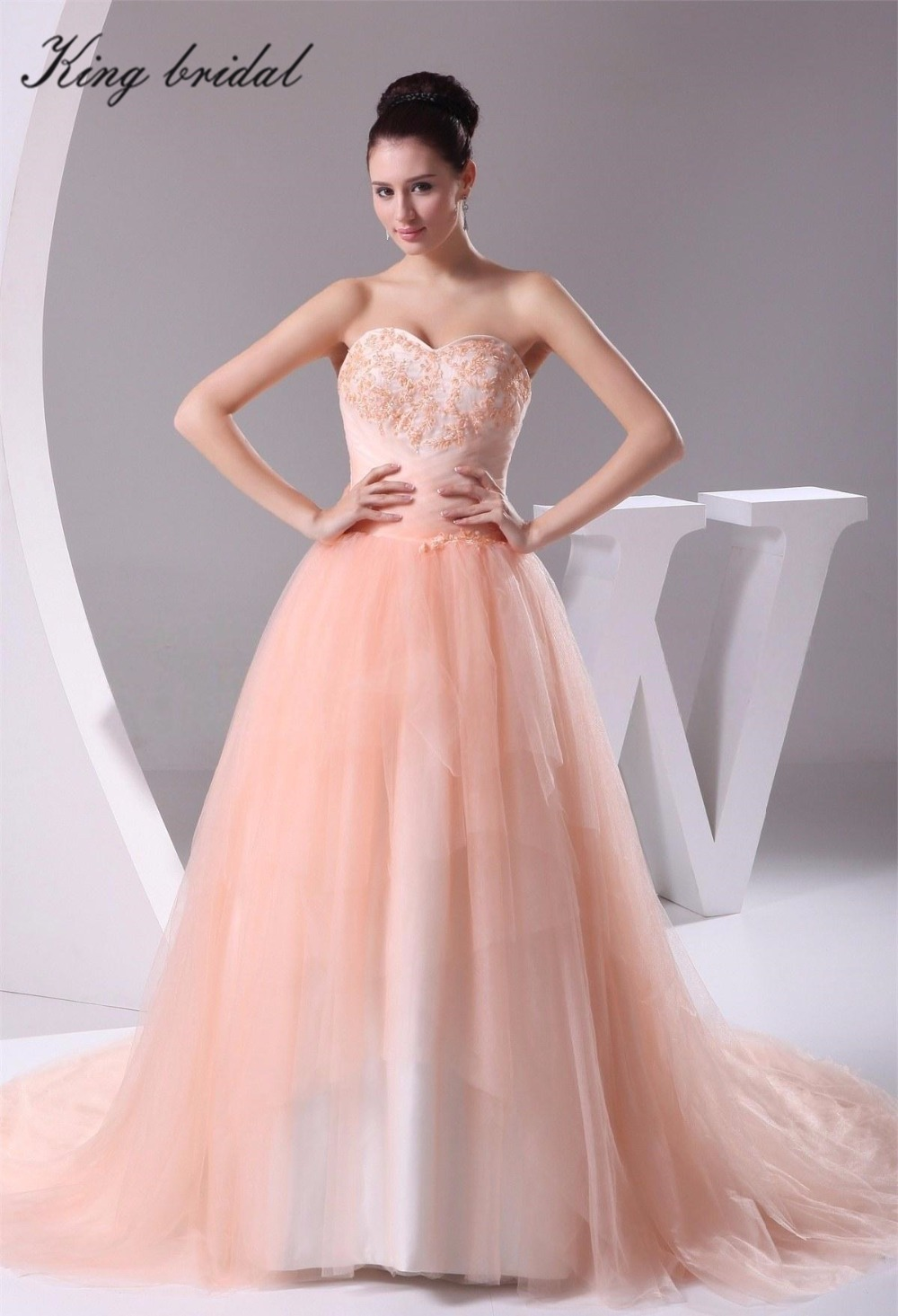 popular light orange wedding dresses buy cheap light
