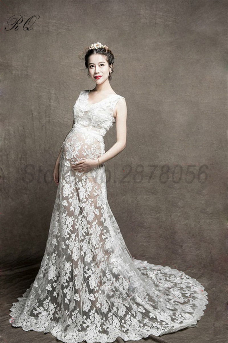 RQ Fashion Maternity Dress Photography Props White maternity Photography Dresses Pregnant Dress Woman Q6 моноколесо airwheel q6 170 wh white green aw q6 170wh white green