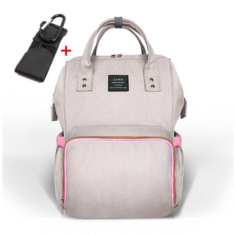LAND большой детские пеленки сумка рюкзак для беременных детские пеленки мешок для родителей bolsa maternidade коляска сумки с вешалкой крюк