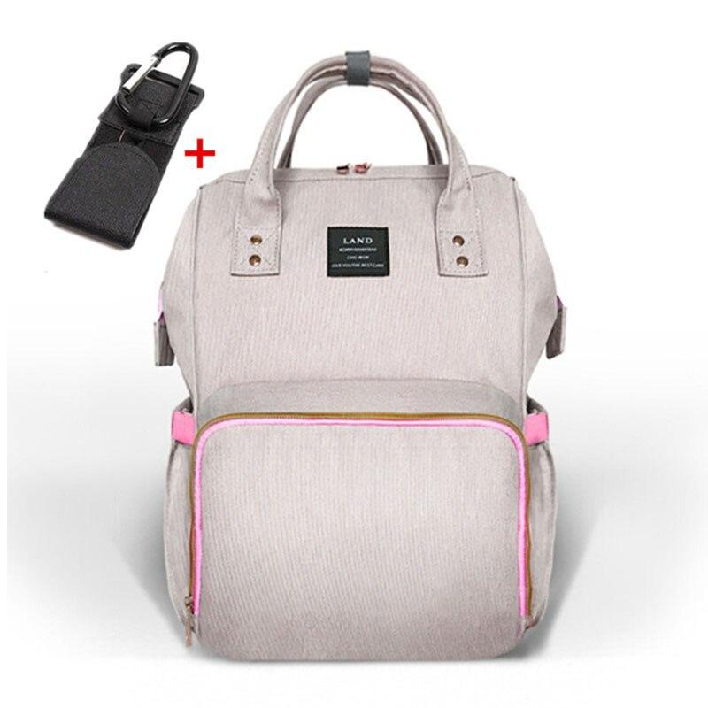 LAND grand sac à couches pour bébé sac à dos de voyage sac à couches pour bébé de maternité pour Parents bolsa maternidade sacs de poussette avec crochet cintre