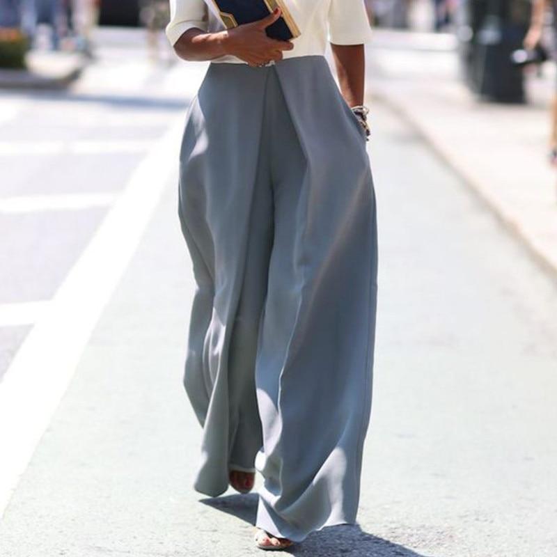 MingJieBiHuo Fashion Woman Pants Korean Elegant New Arrival OL Lady Solid Loose Casual Pants Mid Waist Long Pants Trousers