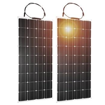 Dokio 2PCS 12V 100W Flexible Monocrystalline Solar Panel For Car Battery & Boat & Home 200w 300w 1000w 18V Solar Panel China 1