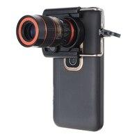 8X зум Оптический Телефон телескоп объектив Универсальный для iPhone для samsung Мобильный смарт объектив с универсальным зажимом портативный чер...