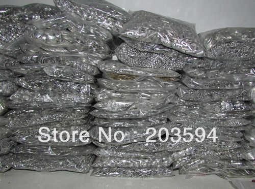 Apuramento! 0.1 KG de Prata Tibetano Misturado Talão/Caps/encantos/Comprar 5 obter 1 livre. Comprar 20 obter 10 frete