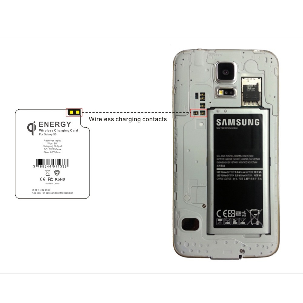 Wireless Charger Receiver For Samsung Galaxy S5 I9600