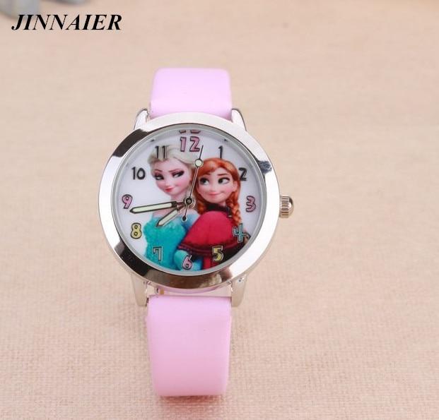 10pcs/lot Wholesales Hot Sales Fashion Casual Cut 3D Cartoon Girls Students Child Quartz Watch Good Quality Leather Wristwatch