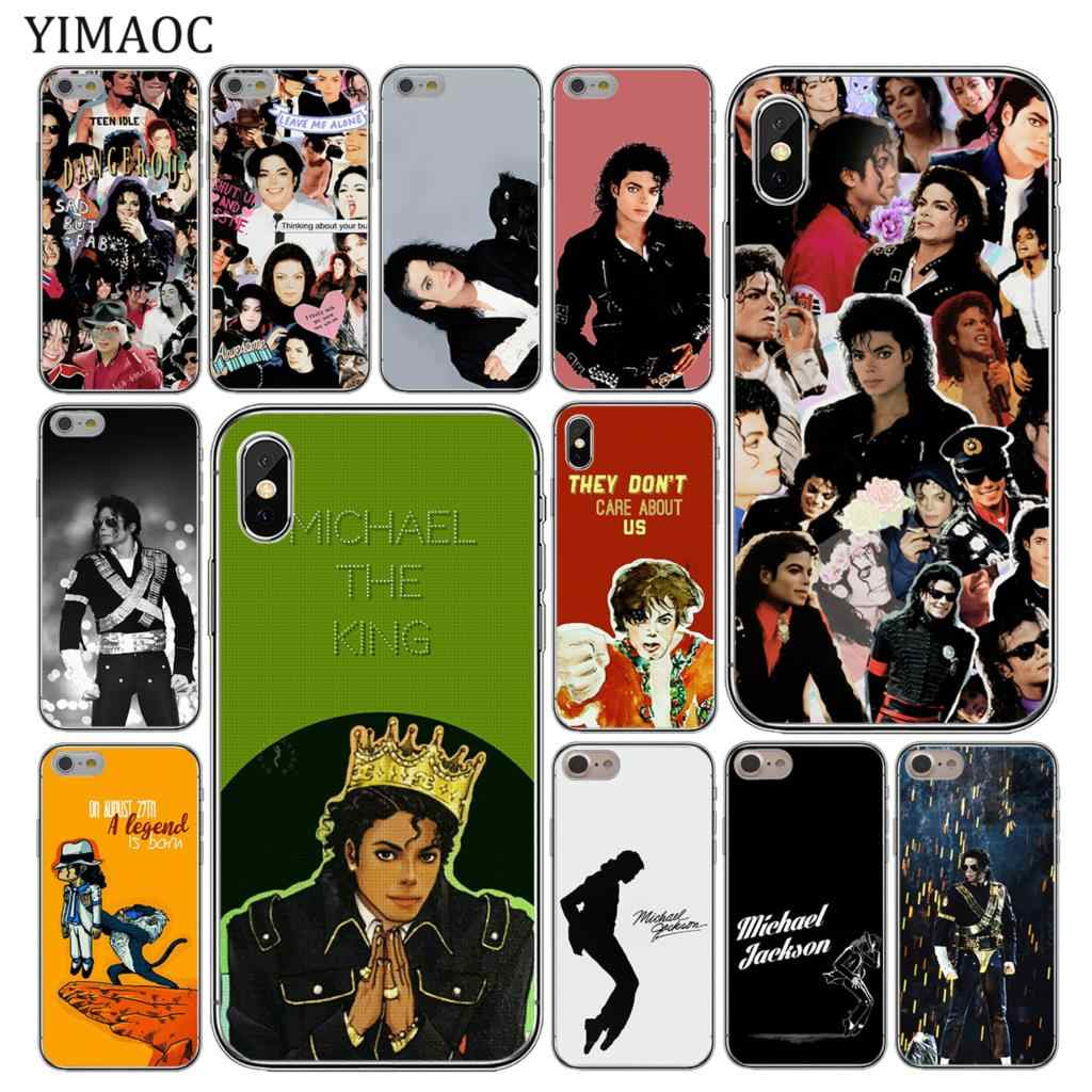hot sale online ba6b8 32c05 YIMAOC michael jackson Soft Silicone Cover Case for Apple iPhone XS Max XR  X 6 6S 7 8 Plus 5 5S SE 10 TPU Phone Cases
