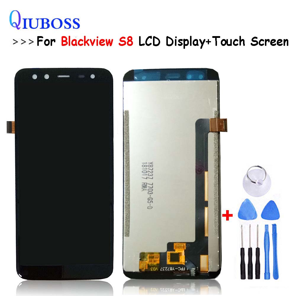 Tested For BlackView S8 LCD Display Touch Screen Assembly Digitizer Free shipping