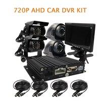 Gratis Verzending 4 Kanaals H.264 1.0MP 720 P AHD 256 GB SD auto DVR Side Vooraanzicht Achter Duty Auto Camera 7