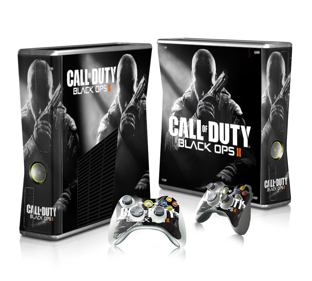 Black Cool for Microsoft Xbox 360 Skins Vinyl Sticker Decals Cover for X box Slim Console Call of Duty xb3048